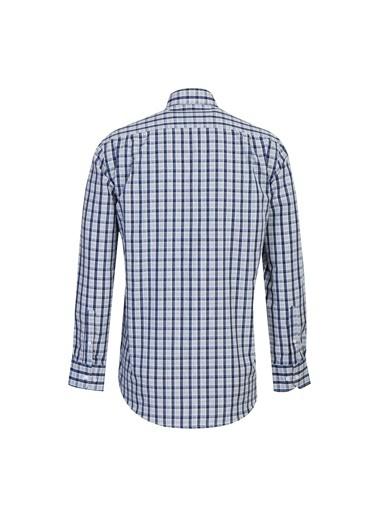 Kiğılı Uzun Kol Regular Fit Ekose Gömlek Lacivert